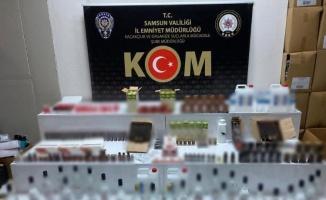 Samsun'da eş zamanlı kaçakçılık operasyonu