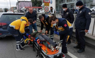 Samsun'daki kazada 1 kişi yaralandı